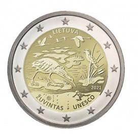 2 Euro Lituanie 2021 - Réserve de la biosphère de žuvintas