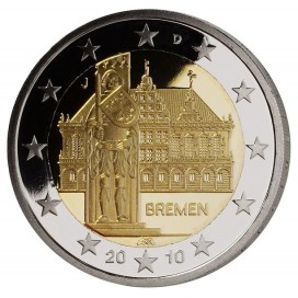 2 Euro allemagne 2010 Breme atelier J