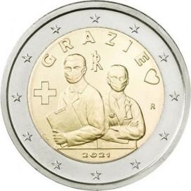 2 Euro Italie 2021 - Merci aux professionnels de santé