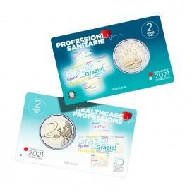 Coincard BU 2 Euro Italie 2021 - Merci aux professionnels de santé