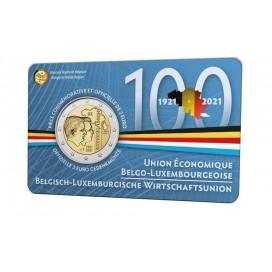 Coincard Francaise 2 Euro Belgique 2021