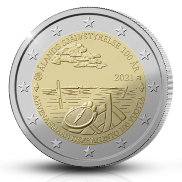 2 Euro Finlande 2021 - 100 ans de l'autonomie de Aland