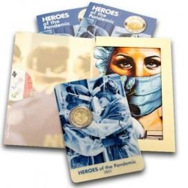 2 Euro Malte 2021 Coincard - Héros de la Pandémie