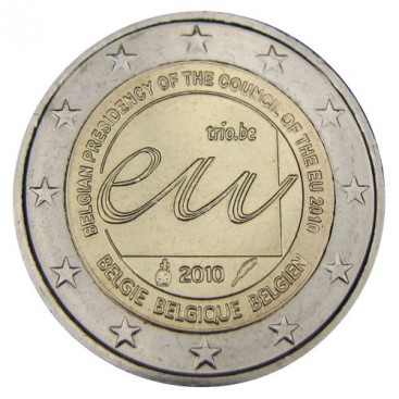 2 Euro BELGIQUE 2010 Presidence UE