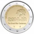 2 Euro BELGIQUE 2014 Guerre Mondiale 1914