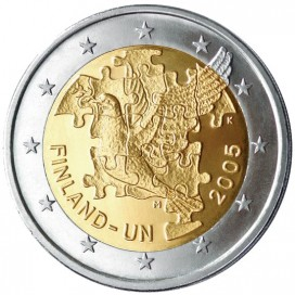 2 Euro FINLANDE 2005 Nations Unies