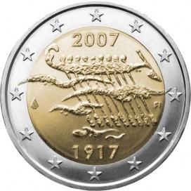 2 Euro FINLANDE 2007 Independance
