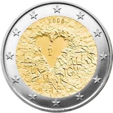 2 Euro FINLANDE 2008 Droits de l'homme