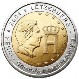 2 Euro Luxembourg 2004 Grand duc henri Adolphe