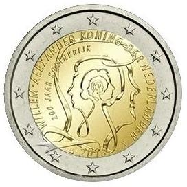 2 Euro Pays-Bas 2013 200 ans de la royauté