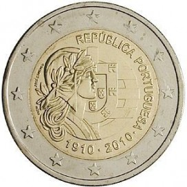 2 Euro Portugal 2010 Centenaire de la Republique