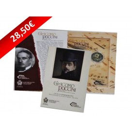 2 euro commémorative SAINT MARIN 2014 Puccini