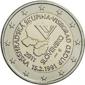 2 Euro Slovaquie 2011 Visegrad
