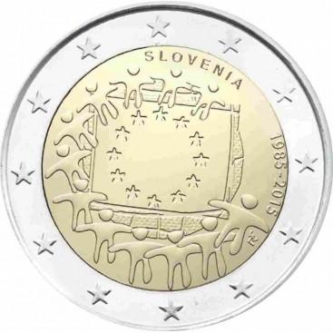 2 Euro slovénie 2015 Drapeau