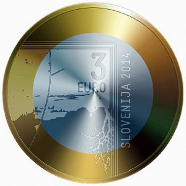 3 euro Slovenie 2014-Janez Puhar