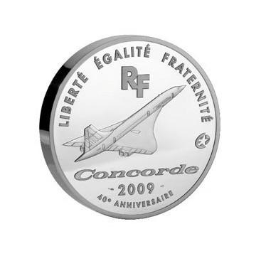European Mintmark : 40ème anniversaire du premier vol du Concorde 50 Euro Arg 2009