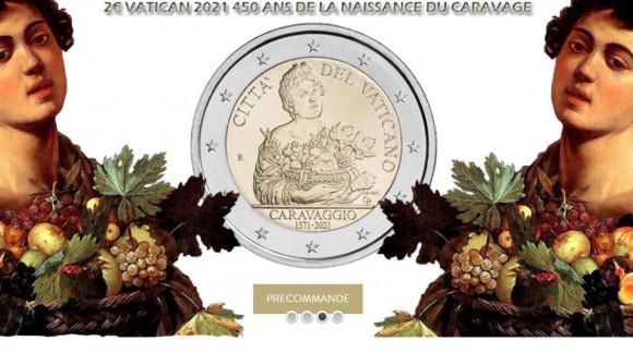2 Euro Vatican 2021 450 ans du Caravage une pièce commémorative au design réussi
